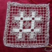 REA!  Två fyrkanter, handgjorda, 8 cm x 8