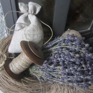 Lingarn, Lavendelpåse, bobinrulle.