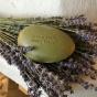 En härligt doftande gåsäggstvål, oliv-grönlera! - Gåsäggstvål olivdoft.