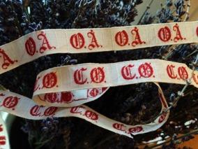 FYNDA! Vackra monogramband som prydnad! Antika. Oanvända! - Vackra antika monogramband. 15 kr/ meter.