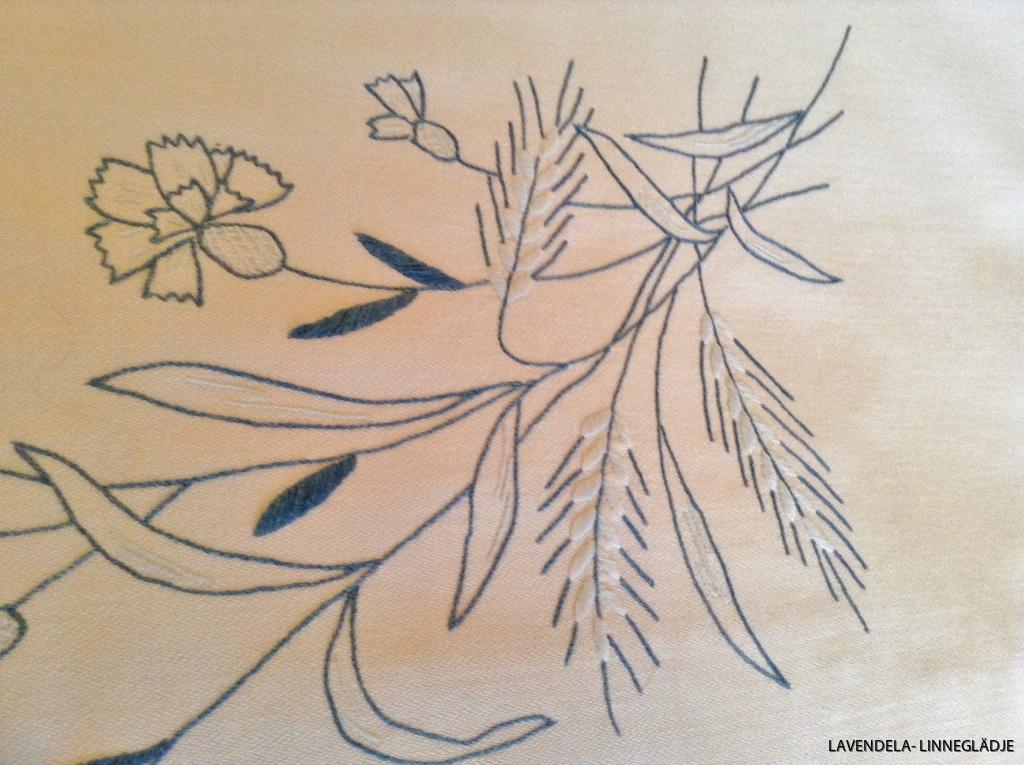 Blommor och blader.