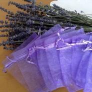 Bra Pris! Tio stycken fina lila organiza påsar, 9 cm x 7 cm. Nyvara.