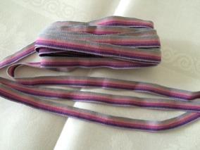 Ett äldre smalt bomullsband i lila nyanser, 10 m! - Ett fint smalt bomullsband, 10 meter.