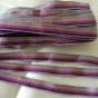 Ett äldre smalt bomullsband i lila nyanser, 10 m!