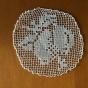 Sex runda isättningsspetsar ca, 7 cm i diameter