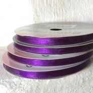Sommarpris! Lila satinband, 10 meter, 6 mm brett. Nyvara!