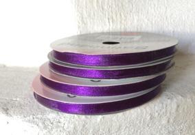 Sommarpris! Lila satinband, 10 meter, 6 mm brett. Nyvara! - Sommarpris! En rulle fint satinband i lila nyans.