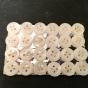 24 st. vackra skimrande pärlemoknappar, 10 mm. Orginalförpackning. - Ljuvligt vackra antika knappar.