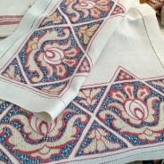 Sommar-Pris! En snyggt hantverk! Handvävd i linne.Välbevarad i Nyskick!