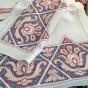 Sommar-Pris! En snyggt hantverk! Handvävd i linne.Välbevarad i Nyskick! - Spmmarpris!  Ett fint välbevarat hantverk i linne.