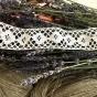 Handknypplade spetsar i off-white. 260 + 220 cm, Oanvända!
