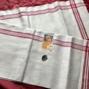 En klassisk handduksräcka i rött och vitt. Oklippt, Finaste Skick!