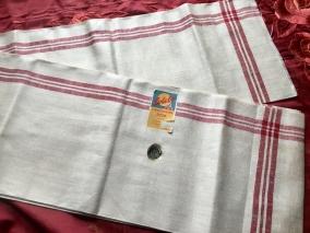 En klassisk handduksräcka i rött och vitt. Oklippt, Finaste Skick! - En fin handduksräcka i allra bästa kvalité!