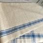 En snygg handduksräcka i hellinne, 420 cm lång.