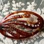 Två antika hårspännen med glittrande pärlor. Oanvända!