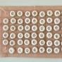 Antika små handsydda små Vadstenaknappar. - 10 st Vadstena knappar