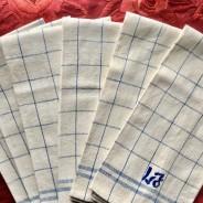 Sommar-Pris! Sex fina kökshanddukar i linne. Handfållade, välbevarade och i finaste skick!