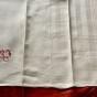 Sex jättefina kökshanddukar, 85 cm x 57 cm. Rött monogram, nytvättade!