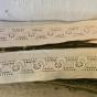 En snygg brodyrspets i bomull, 245 cm lång. Oanvänd. - En fin brodyrspets.