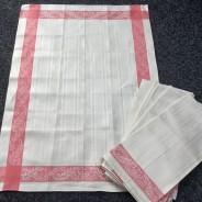 Sex glänsande handdukar i linne. I bästa skick!