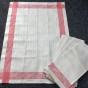 Sex glänsande handdukar i linne. I bästa skick! - Höstpris!  Sex handdukar av de bästa!