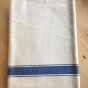 En handduksräcka i allra finaste kvalité. Snygga blå bårder och i linne!