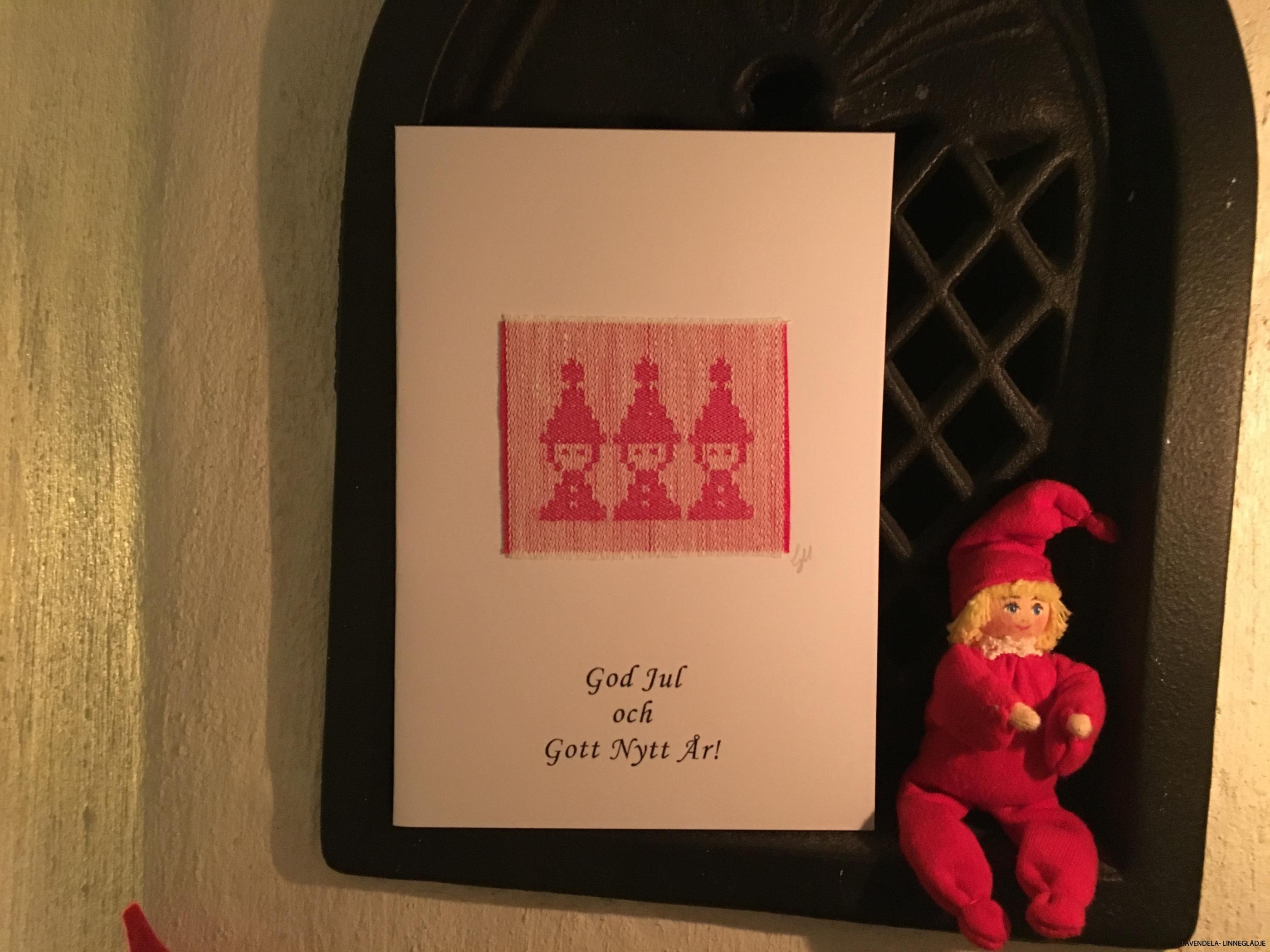 Julkort med tomtenissar