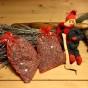 Julpris! Två organzapåsar i rött och silver.