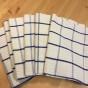 Åtta stycken handvävda handdukar, 73 x 50 cm. Oanvända! - Åtta fina handdukar