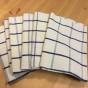Åtta stycken handvävda handdukar, 73 x 50 cm. Oanvända!