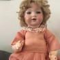 En jättefin antik docka, 45 cm lång, från Tyskland
