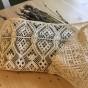 Vilket hantverk, Dalaspets! En handknypplad spets, 14 cm bred. Oanvänd! - En påbörjad krage