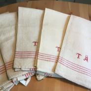 Sju fint handvävda handdukar, oanvända!