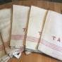 Extra pris! Sex fint handvävda handdukar, oanvända! - Sju kökshanddukar i linne