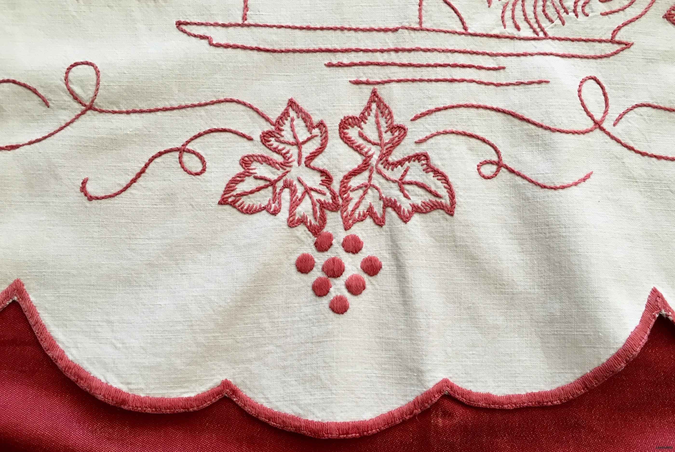 Närbild på nedre delen av p-handduken.
