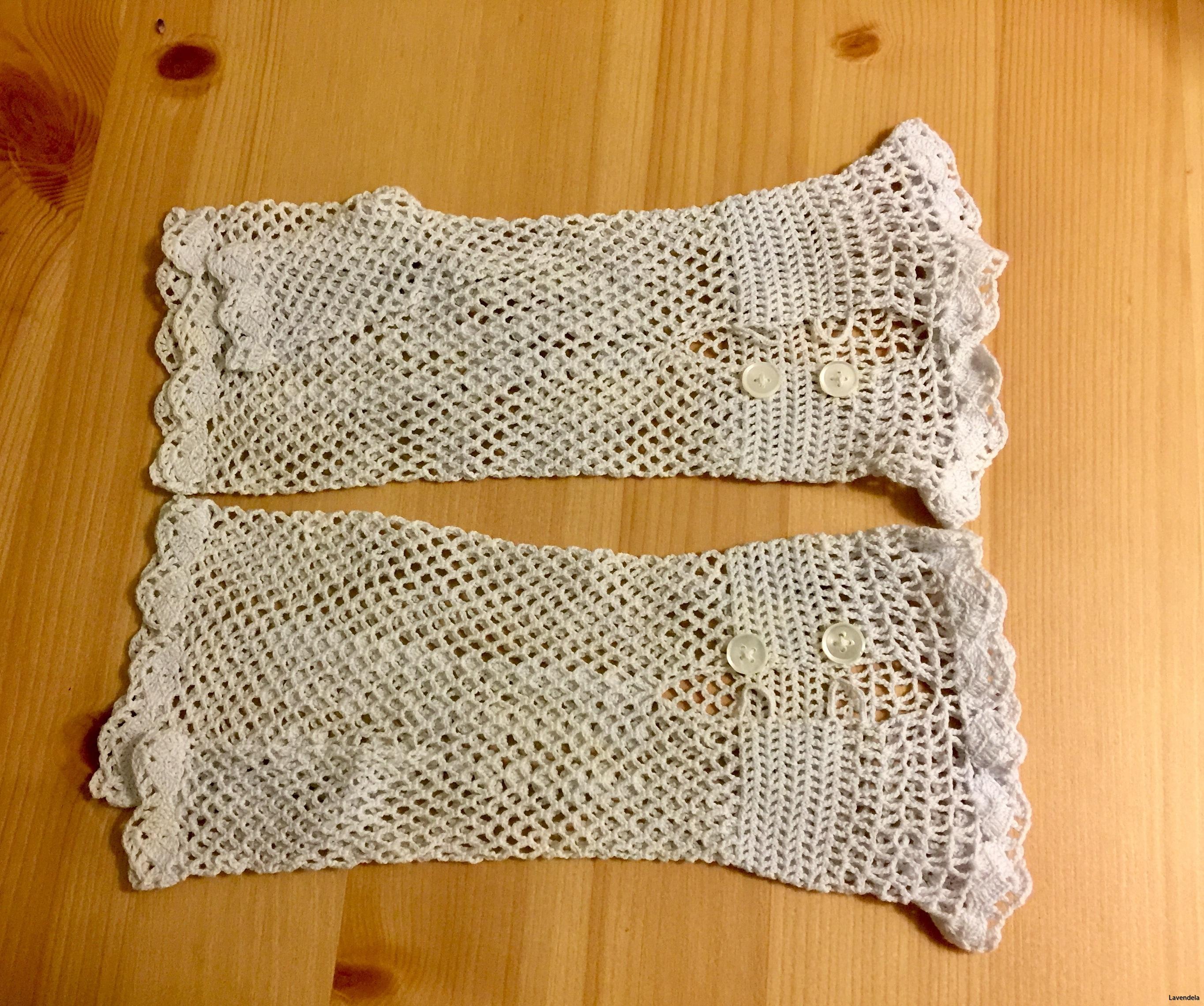 Handvirkade handskar