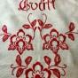 En snygg tvättpåse i linne, 70 cm x 45cm.