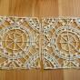 Två söta isättningsspetsar, 9 x 9 cm.