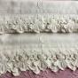 Underbara, antika handbroderade lakan i linne! - Helt ljuvliga linnelakan