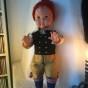 En söt docka i dräkt från Leksand.  Bästa skick!