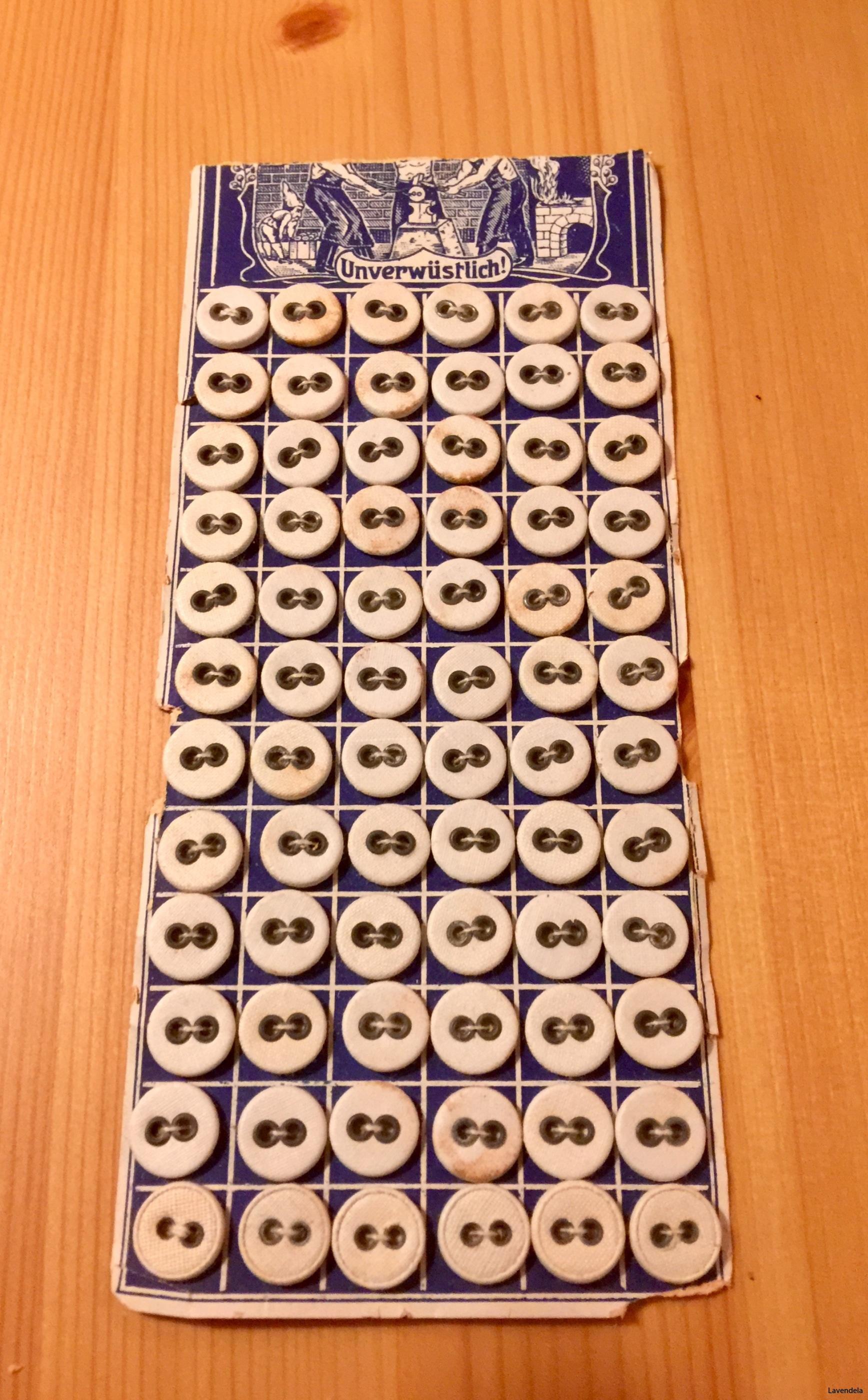 Knapparna är 1 cm diametern karta med