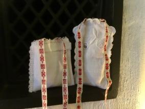 Två söta lavendelpåsar i bomull. - Två handsydda lavendelpåsar m vår ekologiska lavendel