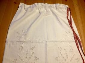 En tvättpåse snyggt vitbroderi, mycket fint skick! - En välbevarad tvättpåse