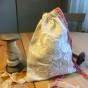 En ljuvligt fin lavendelpåse, 20 x17 cm i vackert handbroderi. - En fin handsydd lavendelpåse