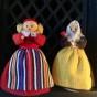 Utförsäljning! Två söta små Weibulldockor, välbevarad prynadsdockor.