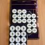 30 stycken äldre linneknappar, 10 mm. - 30 st linneknappar