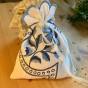 En fint handsydd lavendelpåse - En vacker lavendelpåse i olika blå nyanser