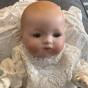 """En ljuvlig """"dreambaby"""" ca, 1920, klädd i dopklänning! - En ljuvlig babydocka i dopklänning"""