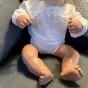 En gullig babydocka , 48 cm Sköldpadda i fina kläder!