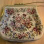 En antik aftonväska i petit point, handsydd!